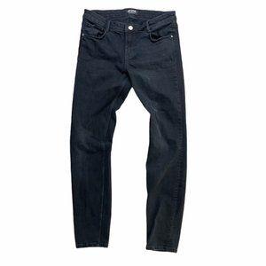ZARA Mid-Rise Black Stretchy Skinny Jeans Size 08